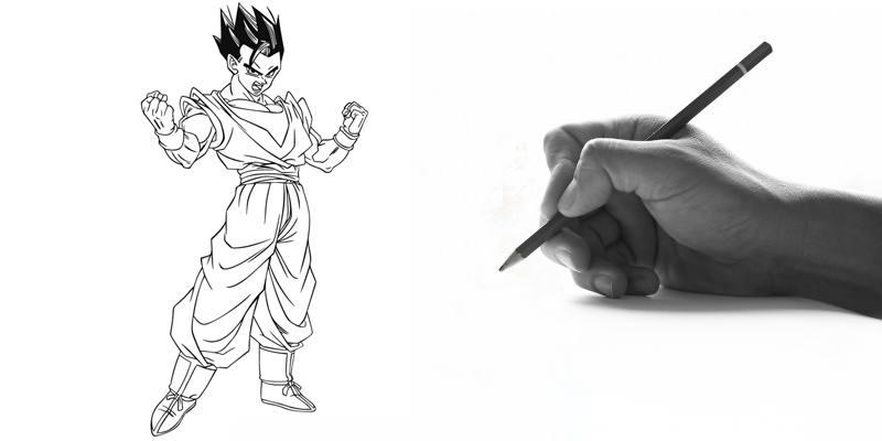 Impara a disegnare Gohan